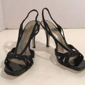 Anne Klein Black Sandals With 4 inch heel
